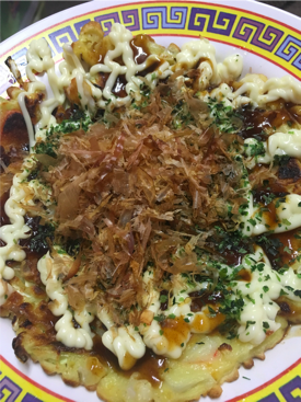 Cooked Okonomiyaki