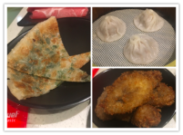 buns, xiao long bao, and shallot pancake