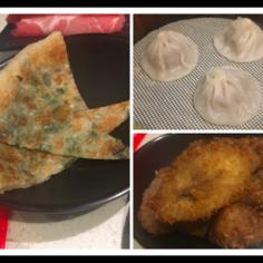 buns, xiao long bao, and shallot pancake
