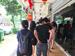 Queue at Eng's Noodle House
