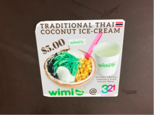 WiMi Coconut Ice Cream in Singapore