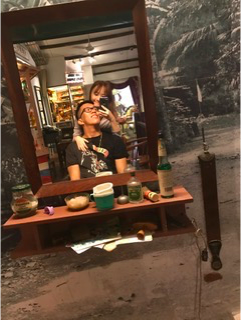 Travis and Kiana in Singapore