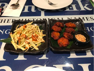Mango Salad and Thai Fishcakes