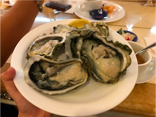 Raw Oysters on the Half Shell at Vienna International Seafood and Teppanyaki Buffet Restaurant