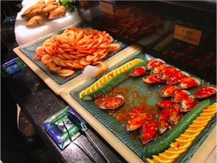 Shrimp and Mussels at Vienna International Seafood and Teppanyaki Buffet Restaurant