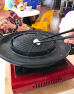 Preparing Grill for Mookata